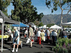 The Pasadena Certified Farmers' Markets include the Villa Park Center, open Tuesdays, and Victory Park, open Saturdays, in Pasadena, California