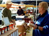 Buy fresh, nutritious farm products direct from the farmer at the Pasadena Farmers' Market in Pasadena, California
