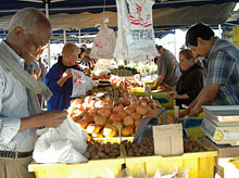 You'll find a great variety of fresh fruits and vegetables at the Pasadena Farmers' Markets in Pasadena, California
