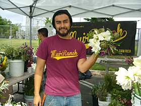 Muir High School Students grow and sell plants at the Pasadena Farmers Market in Victory Park