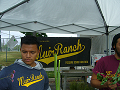 Muir High School Students grow and sell plants at the Pasadena Farmers' Market in Victory Park