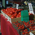 Tomato Man at the Pasadena Farmers' Market in Victory Park